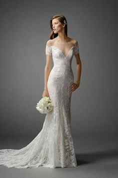 Watters Bridal Spring 2015 Collection Off the Shoulder Mila Wedding Dress | www.onefabday.com