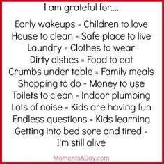 10 Things Mom is Grateful For plus Free Printable for Moms - Moments A Day