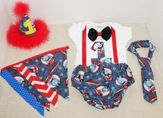 Rylo Thomas The Train cake smash outfit with party hat, thomas the train party by RYLOwear, $12.00