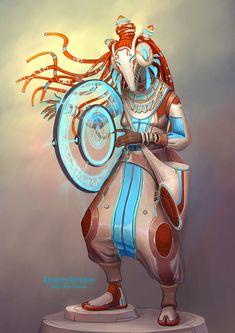 Shaman, Alexandra Semushina on ArtStation at https://www.artstation.com/artwork/shaman-3f7990da-966e-44df-a76b-29ae3cae6993