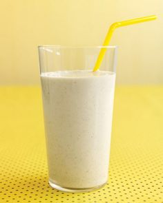 1/4 cup old-fashioned rolled oats 1/2 cup plain low-fat yogurt 1 banana, cut into thirds 1/2 cup fat-free milk 2 teaspoons honey 1/4 teaspoo...