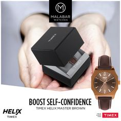 With the wide range of colourful leathers, #Helix watches are designed exclusively for the young generation.