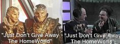 There is a great scene where G'Kar & Londo are in negotiations, but Londo get bored and appoints Vir to take over, G'Kar, annoyed by the prospect of negotiating with Londo's junior, appoints Na'toth. The amusing part comes when both Londo and  G'Kar give the same orders to their inexperienced underlings.