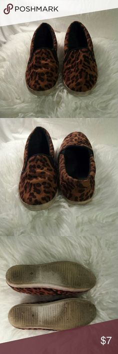 Leopard Print Slip On Sneakers Leopard print slip on sneakers from Tobi.com by WILD DIVA Lounge. These guys have been loved (notice scuffing and discoloration on soles) but are still in great condition otherwise! Super comfy and true to size. No trades. 10% discount on bundles of 2+ items! Negotiate through offer button ONLY. Tobi Shoes Sneakers
