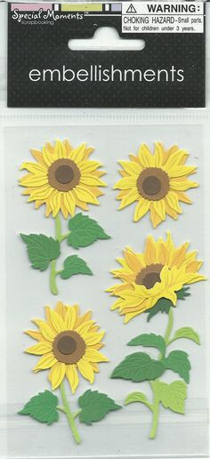 Special Moments    Sunflowers Stickers  by CynthiasCraftingNook