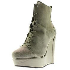 #Shoes #Apparel Charlotte Ronson 0107 Womens Misha Gray Suede Seamed Wedge Boots Shoes 9 BHFO #Christmas #Gifts