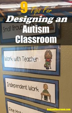 9 tips for designing a self-contained special education classroom. Get your velcro ready!!!!! #autismclassroom Autism Classroom or Special Education Classroom. #autism #classroom #organization