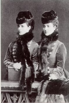 Sisters Princess Alexandra, the future Queen of the United Kingdom, and Princess Dagmar of Denmark, future Empress of Russia. Hence the similarities of their sons, King George V and Tsar Nicholas II.