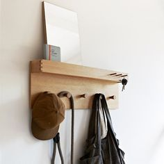 oak Jeeves Coat Rack with Mirror is £147 from SCP