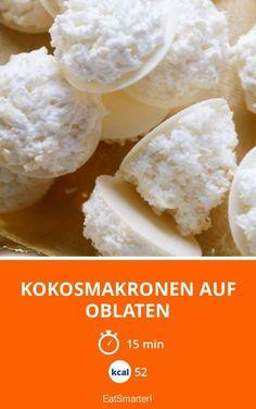 Kokosmakronen auf Oblaten - smarter - Kalorien: 52 kcal - Zeit: 15 Min. | eatsmarter.de