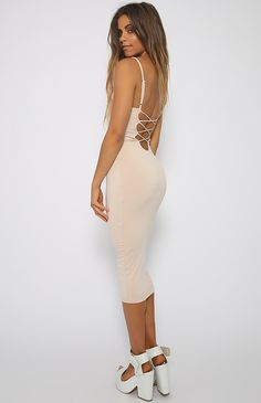Nookie - Mi Amore Backless Shift Dress - Nude   New Arrivals   Peppermayo