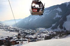 Lift und Piste in Saalbach Österreich Snowboarding, Skiing, Der Bus, The Province, Salzburg, Austria, Mount Everest, Winter, Mountains