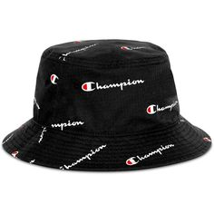 Champion Men's Logo Script Bucket Hat In Black Bucket Hat Outfit, Outfits With Hats, Trendy Outfits, Teen Fashion Outfits, Men's Fashion, Diy Top, Top Hat Costume, Mad Hatter Top Hat, Black Bucket Hat