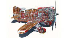 gee bee airplane | Gee Bee Teardrop-Shaped Racing Aircraft