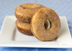 Maple Cinnamon Sugar Baked Donuts from Handletheheat.com