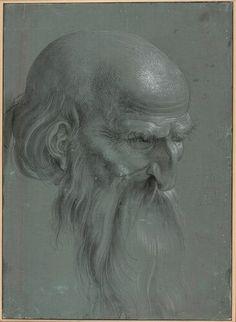 Albrecht Dürer, Kopf eines Apostels, 1508 © Albertina, Wien