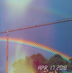 M O O N V E I N S 1 0 1 #digital #aesthetic #rainbow #vintage #fence #trees #sky #blue If you want a digital edit please message me the following: -A picture (which you want to be edited) -A time and date -A certain quote/name (optional)