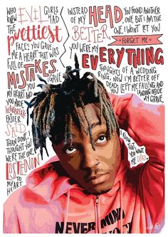 'Juice Wrld' Poster by Naomillustrates Juice Wrld rapper / hip hop Xxxtentacion Quotes, Rapper Quotes, Rapper Art, Logic Rapper, Eminem Quotes, Short Quotes, Wallpapers For Mobile Phones, Dope Wallpapers, Aesthetic Wallpapers