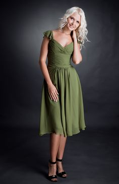 A-line Knee-Length Sweetheart Bridesmaid Dress (Style 02584 - available in Turquoise), $74!