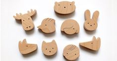 Etsy find of the day - kids wooden fridge magnets #Accessories, #Etsy, #Handmade, #Homewares, #Wooden
