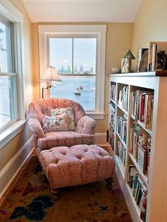 A cozy reading nook