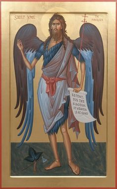 Our Icon Painting Studio will paint a high-quality icon of Holy Prophet John the Baptist to order Byzantine Art, Byzantine Icons, Religious Icons, Religious Art, Paint Icon, Painting Studio, John The Baptist, Spirituality, Mosaics