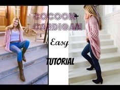 Granny Square Cocoon Cardigan Pattern Easy Video Tutorial