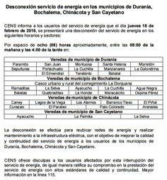 Noticias de Cúcuta: Desconexión de energía en Chinácota, Durania, Boch...