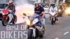 BEST OF BIKERS 2016 - Street Motorcycles Wheelies, Burnouts RL & LOUD ex...