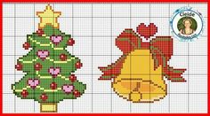 Cross Stitch Christmas Cards, Christmas Charts, Cross Stitch Cards, Christmas Cross, Diy Christmas Ornaments, Cross Stitching, Cross Stitch Embroidery, Cross Stitch Patterns, Plastic Canvas Christmas