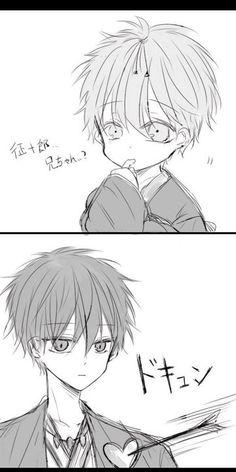 so cuteee Kuroko face melt ur heart rigjt Akashi Anime Dad, Fan Anime, Cute Anime Boy, Cute Anime Couples, Anime Guys, Cartoon Drawings, Cute Drawings, Akashi Kuroko, Kiseki No Sedai