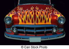 Flaming Hotrod - A beautiful vintage auto
