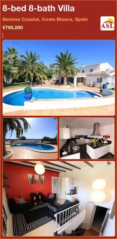 8-bed 8-bath Villa in Benissa Coastal, Costa Blanca, Spain ►€795,000 #PropertyForSaleInSpain