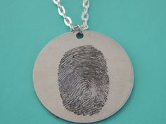 Your One and Only Fingerprint Pendant Necklace! No one else will have the same pendant as you!