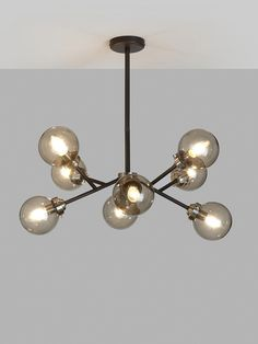 Buy John Lewis & Partners Orb Multi Armed Ceiling Light, Smoke from our Ceiling Lighting range at John Lewis & Partners. Ceiling Shades, Flush Ceiling Lights, Living Room Lighting Ceiling, Living Room Light Fittings, Rustic Candles, Led Candles, Sitting Room Lights, Orb Light, Hallway Designs