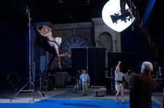 This is how spidey flys with his galfriend  Behind the scenes of #amazingspiderman