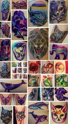 Artist: Sasha Unisex Looks to me like geometric Lisa Frank and I love it!