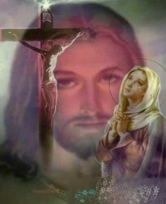 Jesus and Mary Jesus Mother, Blessed Mother Mary, Blessed Virgin Mary, Pictures Of Jesus Christ, Religious Pictures, Mary And Jesus, Jesus Is Lord, Immaculée Conception, Religion