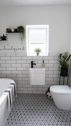 Monochrome Family Bathroom Renovation (Home Renovation Project - Katie Ellison Small Bathroom Renovations, Big Bathrooms, Upstairs Bathrooms, Bathroom Design Small, Bathroom Layout, Bathroom Interior Design, Bathroom Ideas, Bathroom Designs, Small Bathroom With Bath