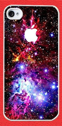 Personalized iPhone 4 case iPhone 4s case - Fox Fur Nebula Galaxy Space Case-plastic hard Iphone cover-iphone 4 cover iphone 4s cover