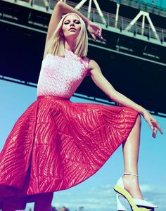 awesome Harper's Bazaar Singapore October 2014 | Aline Weber by Yu Tsai [Fashion]