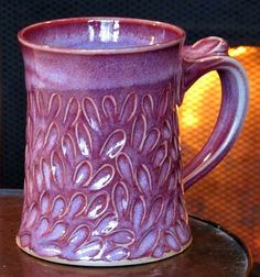 Orchid colored mug