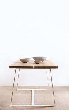 Solid oak table with