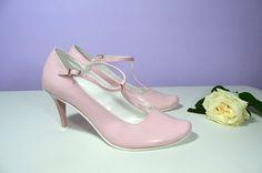 Růžové lodičky, eko kůže pink - model Marry dle úpravy klientky, Ružové lodičky svatební obuv, společenksá obuv, spoločenské topánky, topánky pre družičky, svadobné topánky, svadobná obuv, obuv na mieru, topánky podľa vlastného návrhu, pohodlné svatební boty, svatební lodičky, svatební boty se zdobením,topánky pre nevestu, ružové svadobné topánky