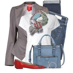 """Blazer & Tee"" by brendariley-1 on Polyvore"