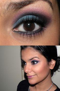Make azul e rosa! - http://juliapetit.com.br/beleza/azul-e-rosa/