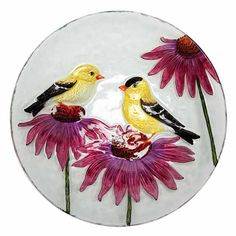 fused glass bird bath bowls | Home > Bird Houses > All Bird Houses > Glass Goldfinch Bowl