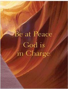 "Sundays Devotion,  ""God is in Control"""
