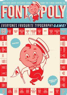 timba-smits-9.jpg 600×850 pixels graphic design, monopoly, games, retro posters, fontopoli, typography, fonts, timba smit, typographi
