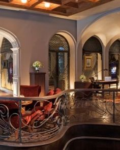 The ambient lobby has a welcoming vibe that complements its fin de siècle European chic. #Jetsetter